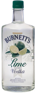 Burnett's Vodka Lime 750ml - Case of 12